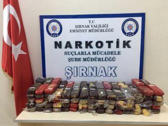 Şırnak'ta 66 Kilo Eroin Ele Geçirildi