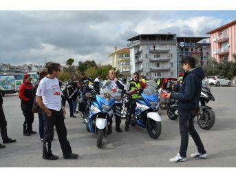 Organ Nakline Dikkat Çekmek Üzere Motosiklet Turu Yaptılar