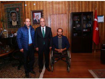Rektör Çomaklı, Gazi Yahya Kemal Çalayır'ı Ağırladı