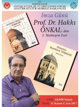 Prof. Dr. Hakkı Önkal 11 Kasım'da Tüyap Kitap Fuarı'nda