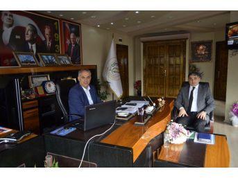 Başkan Yaman, Osmangazi Elektrik Dağıtım İl Müdürü Aykut İle Bir Araya Geldi