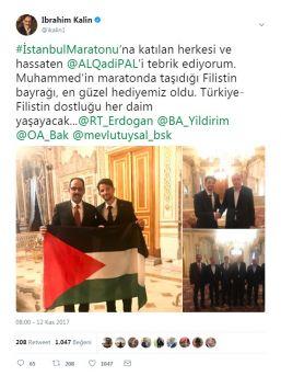 Cumhurbaşkanı Erdoğan Filistinli Atleti Kabul Etti