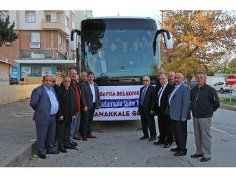Bafralı Muhtarlara Çanakkale Gezisi