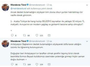 Başkan Türel'den Ali Şafak Öztürk'e Sosyal Medyadan Cevap