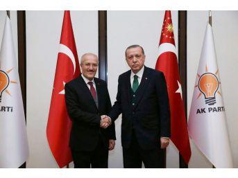 Başkan Kafaoğlu Cumhurbaşkanı Erdoğan İle Görüştü