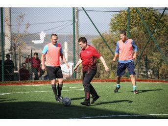 Halısaha Açılışında Futbol Şov