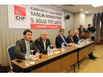 Chp'li Vekiller, Diyarbakır'da Sağlık Çalıştayı Düzenledi