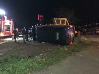 Cumhurbaşkanı Erdoğan'ın Koruma Ekibini Taşıyan Minibüs Görele'de Kaza Yaptı: 4 Yaralı