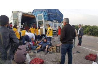Narenciye İşçilerini Taşıyan Minibüs Kaza Yaptı: 1 Ölü, 24 Yaralı
