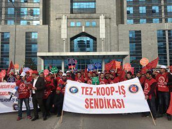 Alman Firmanın Mağdur Ettiği İşçiler İçin Kartal Adliyesi Önünde Eylem