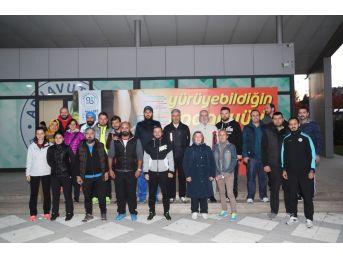 """Arnavutköy Belediyesi Personelinden """"sağlıklı Yürüyüş"""" Kampanyasına Destek"""