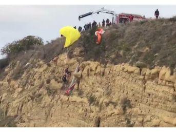 (özel Haber) Paraşütçülerin Ölümden Döndüğü Anlar Kamerada