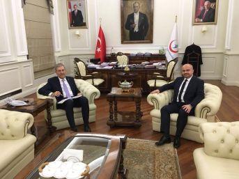 Mersinli'den Bakan Demircan'a Teşekkür Ziyareti