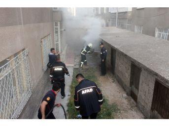 Kömürlükte Çıkan Yangın Polis, İtfaiye, Afad Ve 112 Ekiplerini Harekete Geçirdi