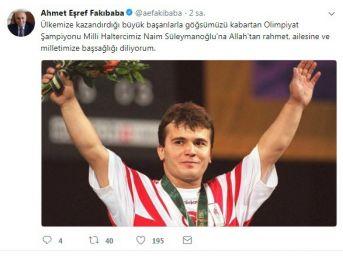 Bakan Fakıbaba'^dan Naim Süleymanoğlu Açıklaması