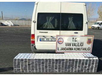 Jandarma 3 Ayrı Operasyonda 21 Bin Paket Kaçak Sigara Ele Geçirdi
