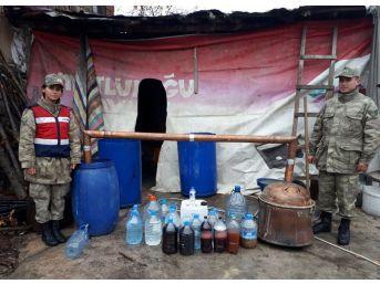 Amasya'da 1,5 Ton Sahte İçki Ele Geçirildi