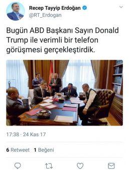 Cumhurbaşkanı Recep Tayyip Erdoğan İle Abd Başkanı Donald Trump Telefonda Görüştü.