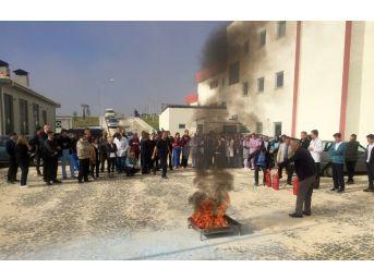 Elmalı Devlet Hastanesi'nde Yangın Tatbikatı