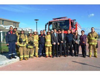 Ayvalık Devlet Hastanesi'ndeki Yangın Tatbikatı Gerçeğini Aratmadı