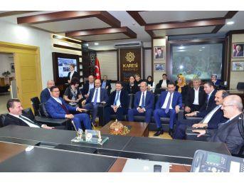 Başkan Kafaoğlu'ndan Altıeylül Ve Karesi Belediyelerine Ziyaret