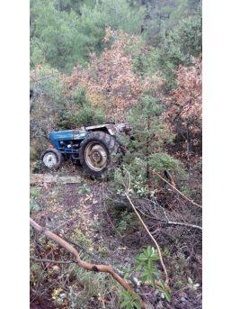 Takla Atan Traktörün Sürücüsü Yaralandı