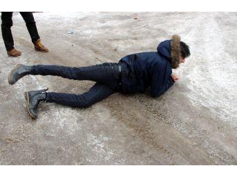 Erzurumluların Buzla İmtihanı
