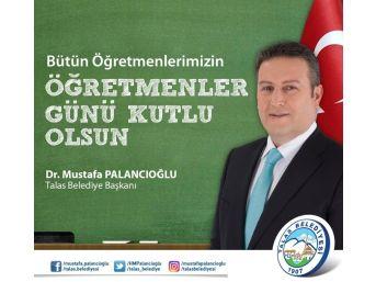 Başkan Palancıoğlu Öğretmenler Günü'nü Kutladı