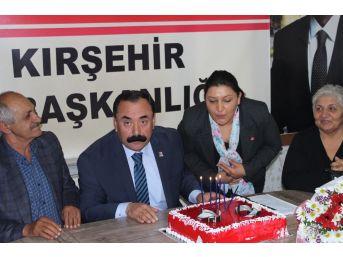 Chp Merkez İlçe Başkanlığına Kırşehir'de İlk Kadın Aday