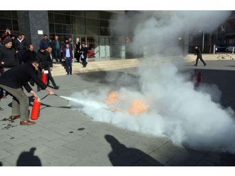 Özbelsan Personeline Yangın Eğitimi