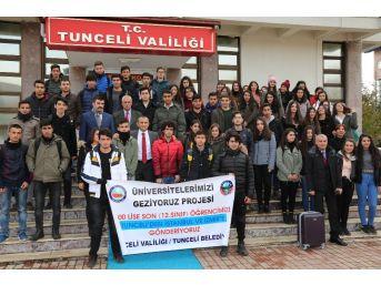 Tunceli'de 600 Liseliye İstanbul, Ankara Ve İzmir Gezisi