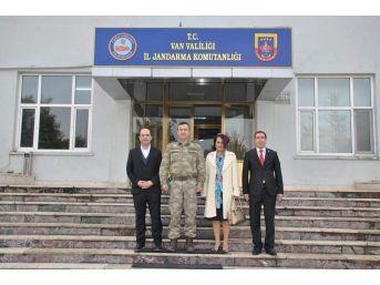 Başkan Sözen Ve Kahraman'dan Komutanlara Ziyaret