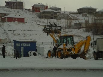 Özalp İlçesinde Kar Yağışı