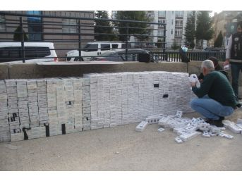 Bolu'da Sehpalara Zulalanmış 10 Bin Paket Kaçak Sigara Ele Geçirildi