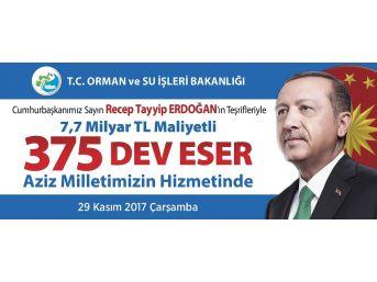 Cumhurbaşkanı Recep Tayyip Erdoğan'ın Hizmete Alacağı Eserlerden Kütahya Da Payını Alacak
