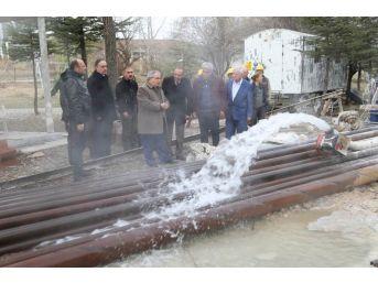 Yoncalı'da Termal Su Sevinci