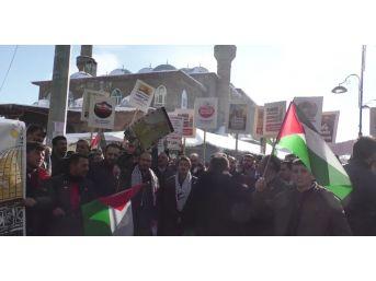 Ağrı'da Cuma Namazı Çıkışı Kudüs Protestosu