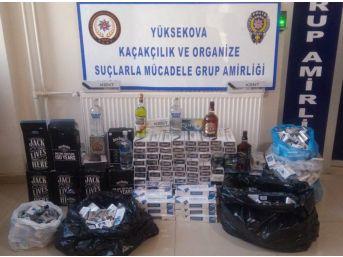 Hakkari'de Polis Gümrük Kaçağı Malzemeler Ele Geçirdi