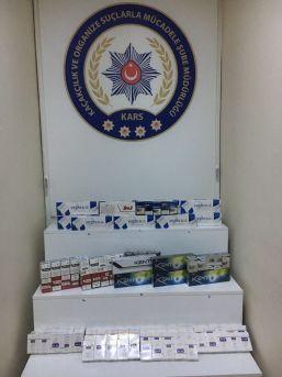 Kars'ta 418 Paket Kaçak Sigara Yakalandı