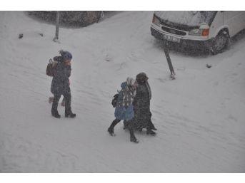 Kars'ta Kar Ve Tipi Hayatı Olumsuz Etkiledi