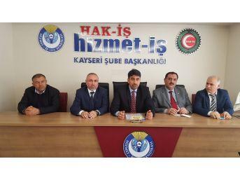 Hizmet-iş Sendikası Kayseri Şube Başkanı Serhat Çelik: