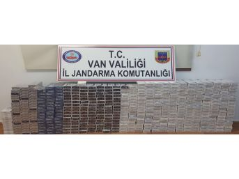 Van'da 6 Bin Paket Kaçak Sigara Ele Geçirildi