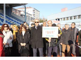 Çankırı'da Kadına Şiddete Hayır Yürüyüşü