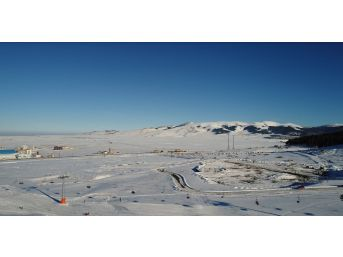 Sarıkamış Cıbıltepe Kayak Merkezi Havadan Görüntülendi
