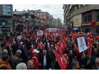 Trabzon'da İsrail Ve Abd'ye Tepki
