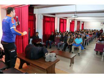 Afad Ve Türkuaz Doğa Sporları Arama Kurtarma Derneği Öğrencileri Bilgilendirdi
