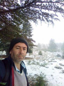 Erdemli'nin Yüksek Kesimlerinde Kar Yağışı