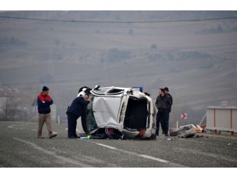 Kastamonu'da Takla Atan Otomobilin Sürücüsü Yaralandı
