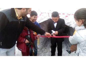 Ardahan'ın 'çılgın Projesi' Ilgar Dağı Tünelini Bitmeden Çocuklar Temsili Açtı