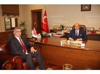 Yeni Orman Müdürü Kalaycı,başkan Arslan'ı Ziyaret Etti